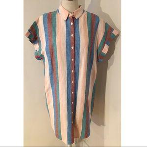 Madewell Plus Size Linen Blend Shirtdress XL